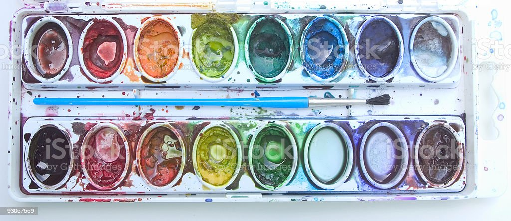 Water Colors 1 royalty-free stock photo