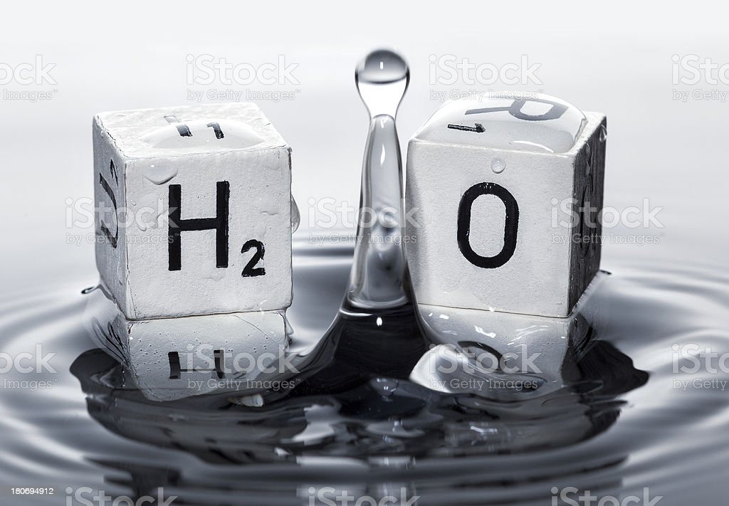 H2O - water concept royalty-free stock photo