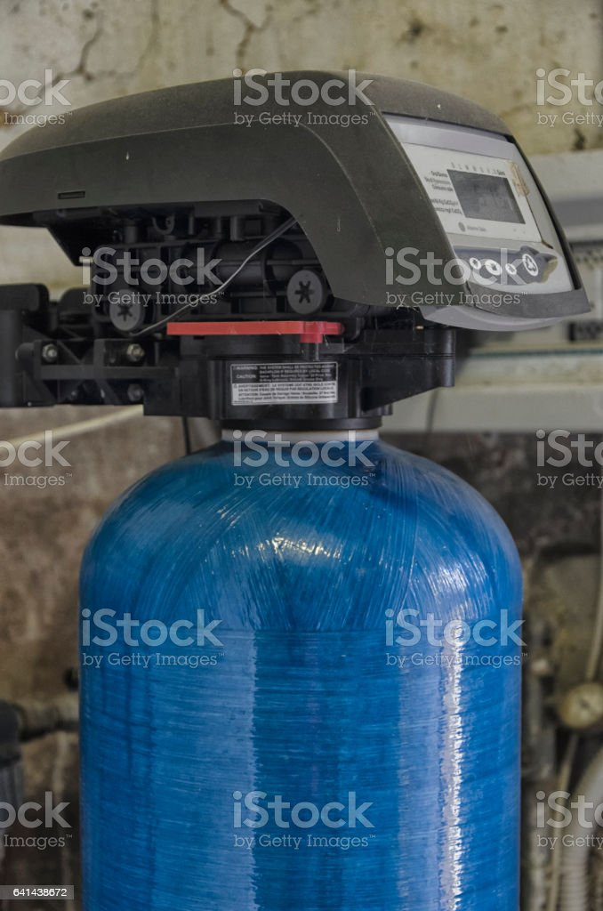 Water conditioner and other components stock photo