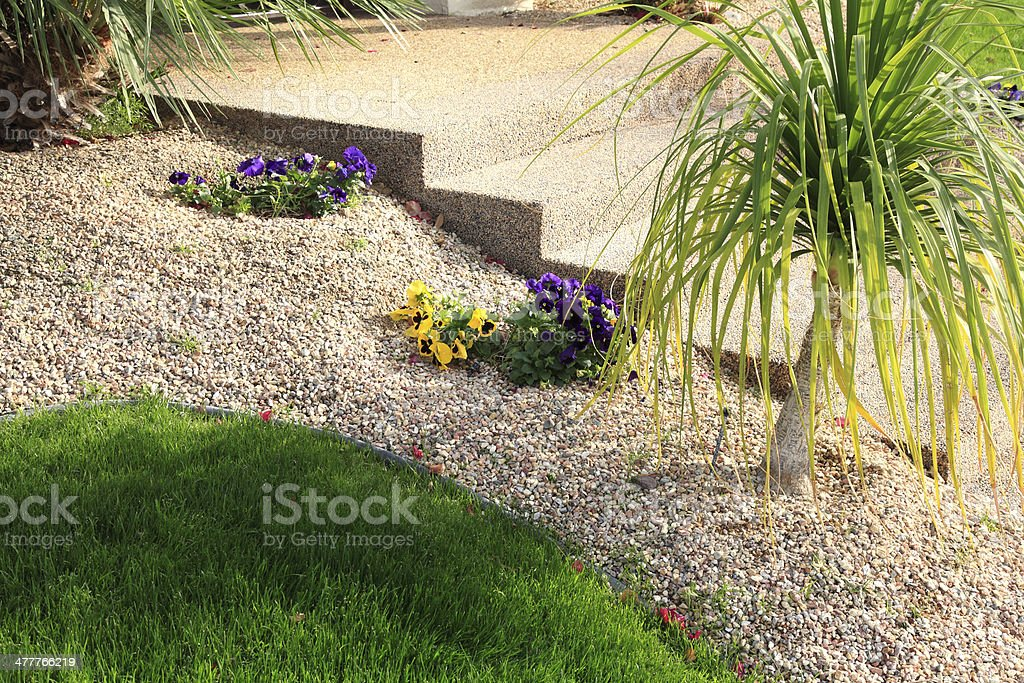 Water Conservation And Simplicity In Garden Design royalty-free stock photo