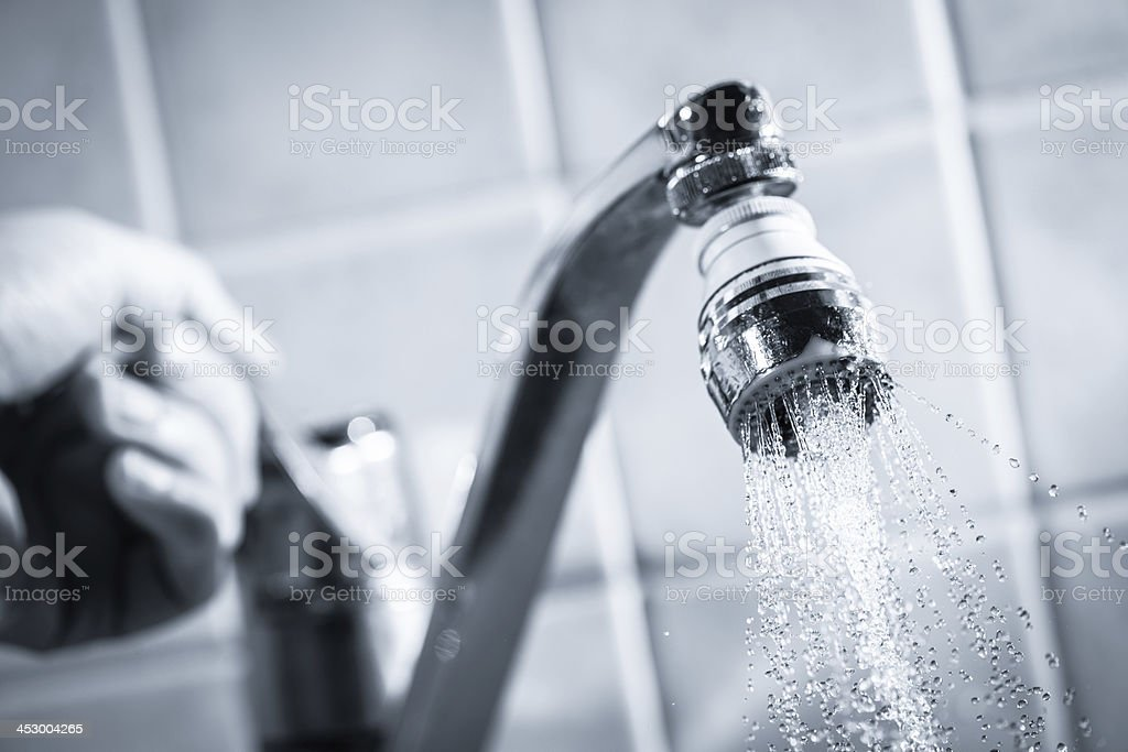 Water consumption royalty-free stock photo