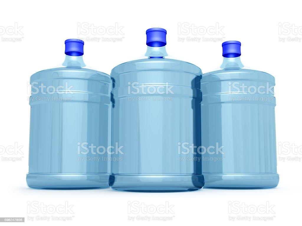 Water cooler bottles stock photo