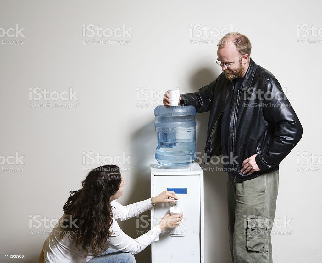 Water cooler chat #2 stock photo