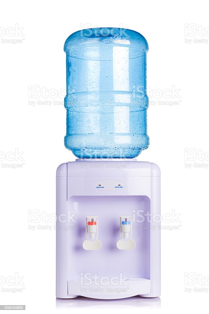 water cooler dispenser on white stock photo