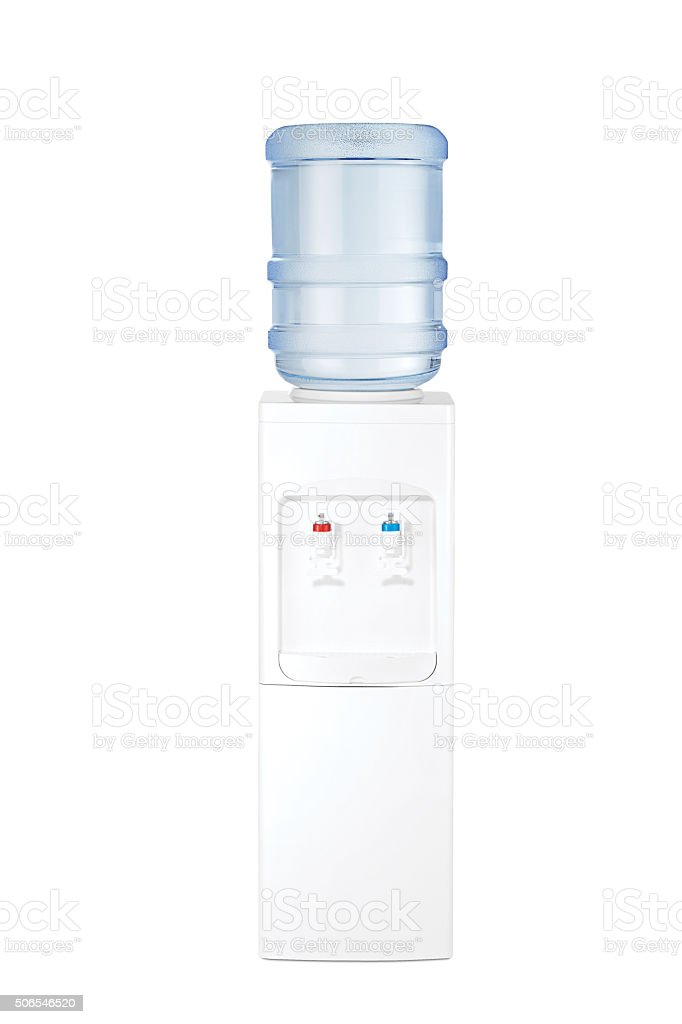 water cooler front view(clipping path) stock photo