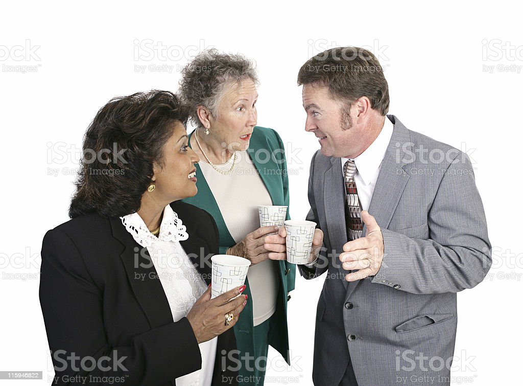 Water Cooler Gossip stock photo