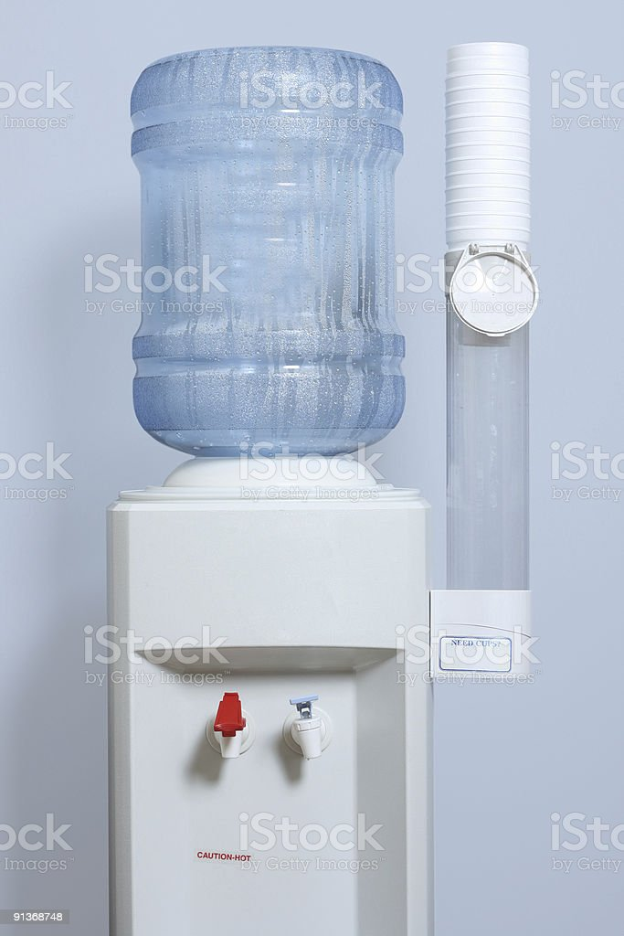 Water Cooler - Light Blue Background stock photo