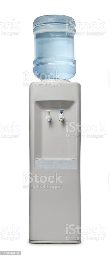 Water cooler on white background stock photo