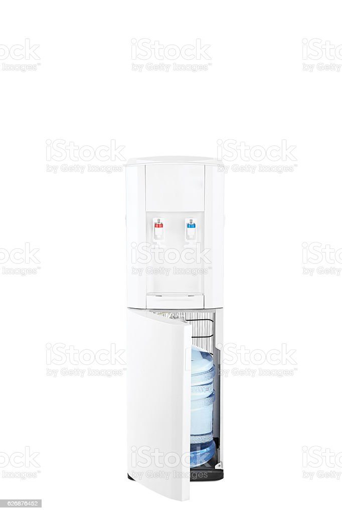water cooler side view(clipping path) stock photo