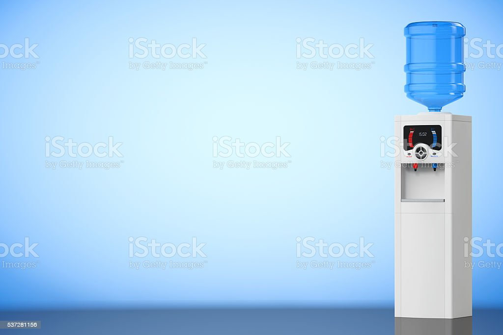 Water Cooler with Bottle. 3d rendering stock photo