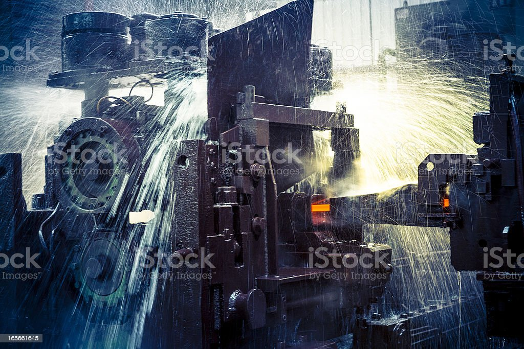 water cooling of roling mill line royalty-free stock photo