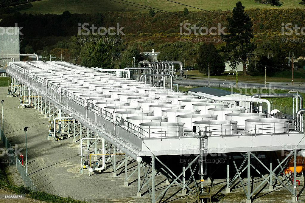 Water Cooling Tanks stock photo