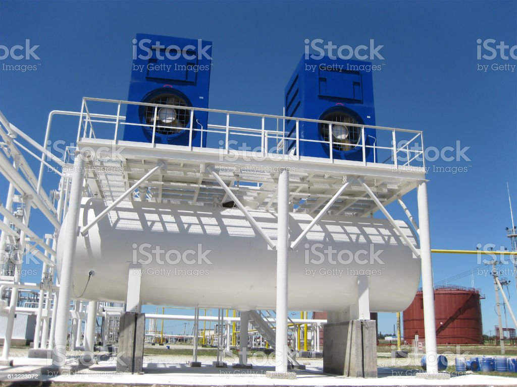 water cooling tower stock photo
