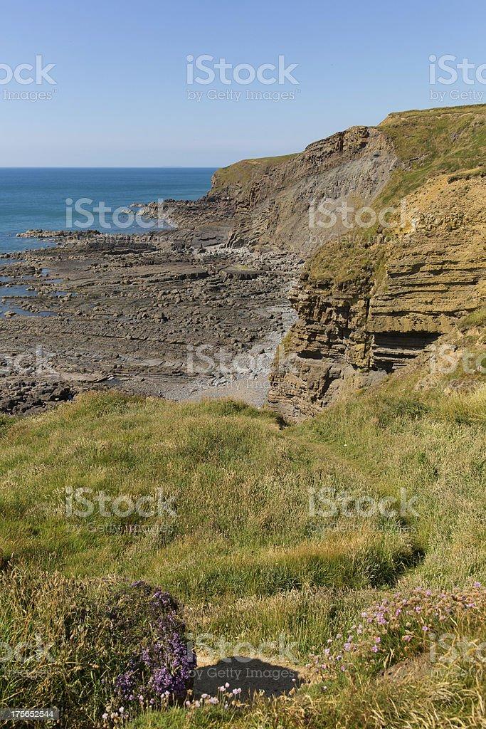Water Cove Widemouth Bay near Bude Cornwall England stock photo