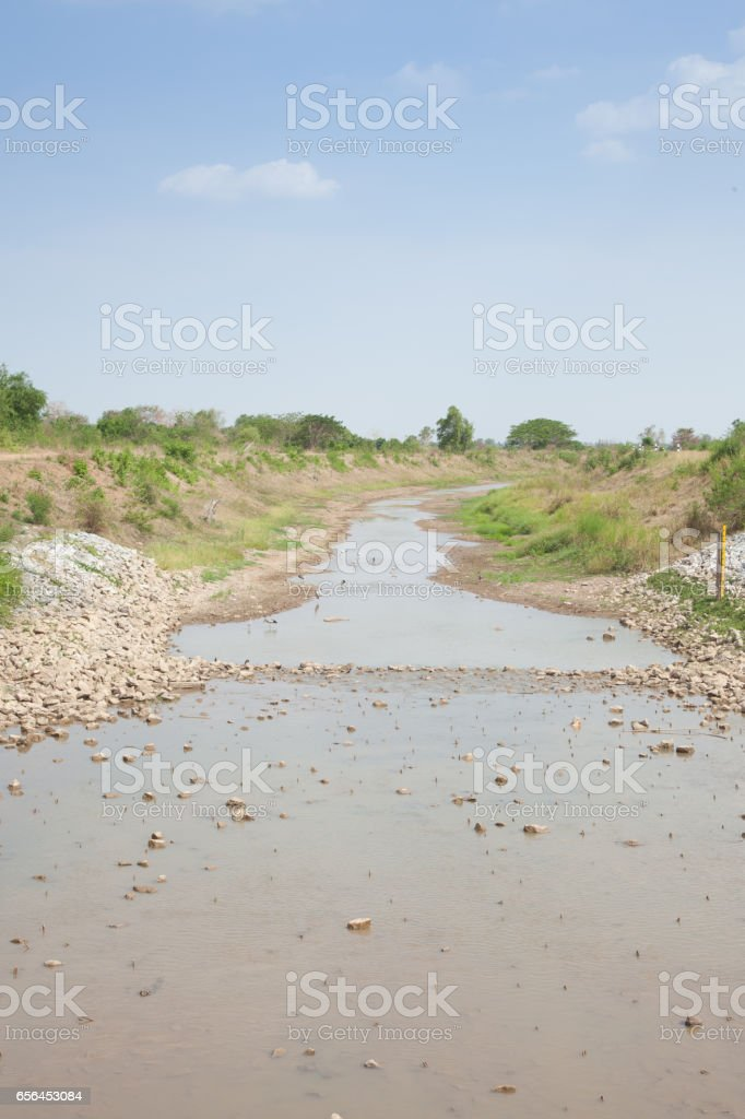 Water crisis and aridityin thailand stock photo
