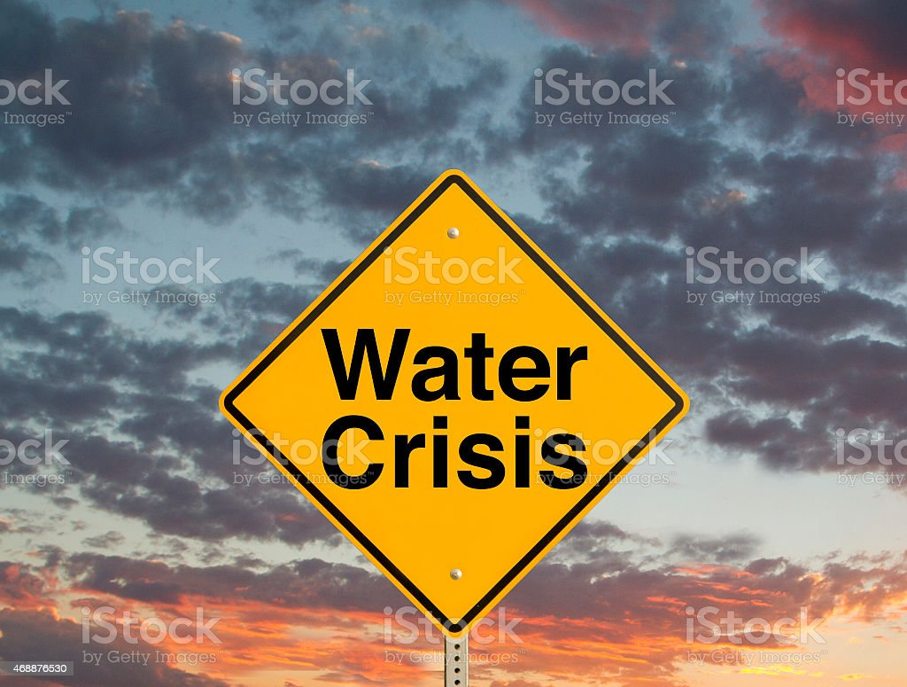 Water Crisis Sign stock photo