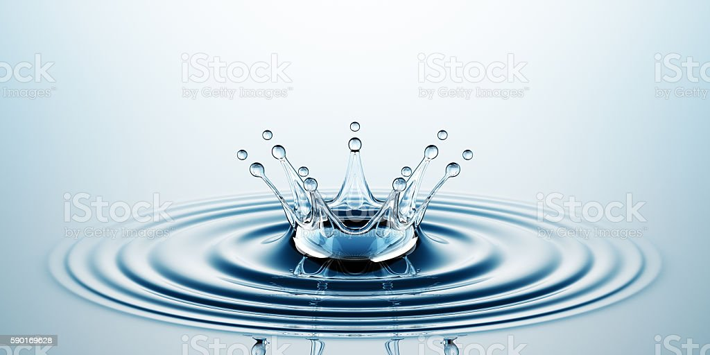 Water Crown stock photo