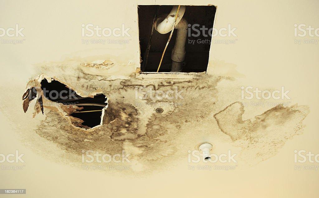 Water damage stock photo
