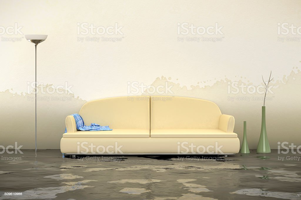 water damage stock photo