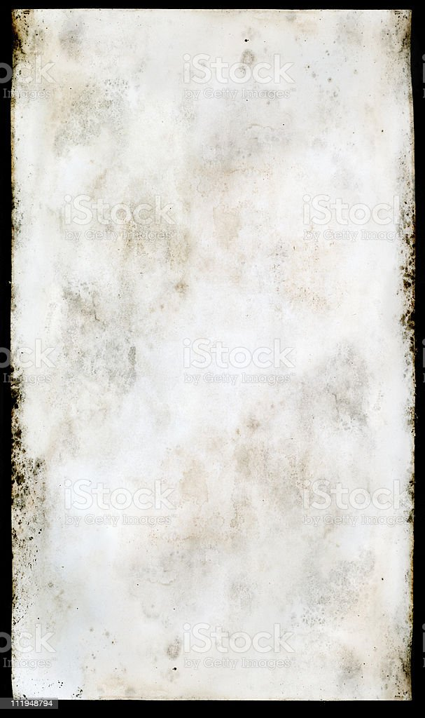 Water damaged old paper royalty-free stock photo