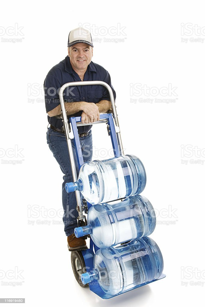Water Delivery Man - Friendly stock photo