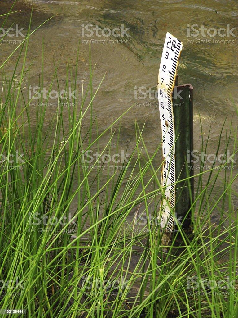 Water Depth Measurement stock photo