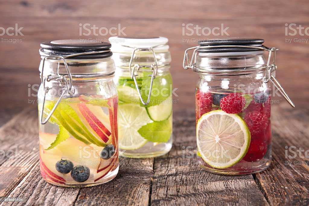water detox stock photo
