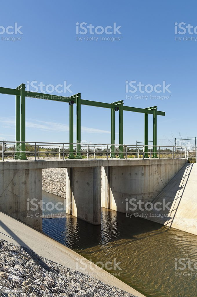Water diversion canal royalty-free stock photo
