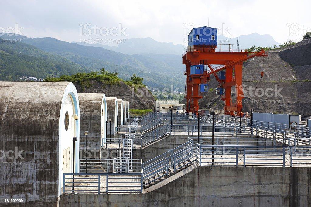 water diversion of Shuibuya Dam royalty-free stock photo
