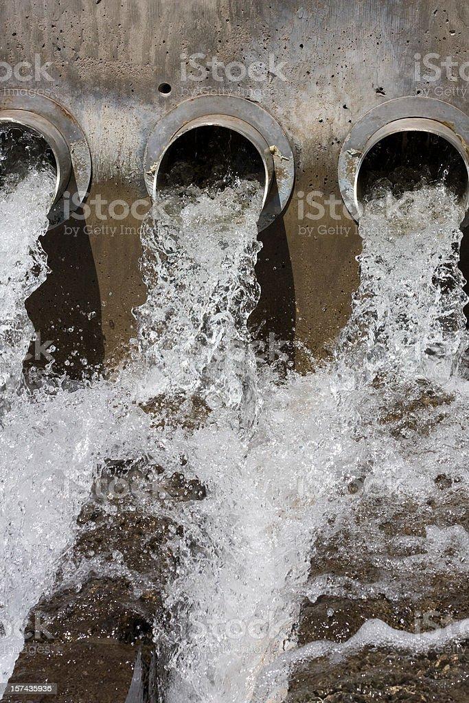 Water Drains Close-Up royalty-free stock photo