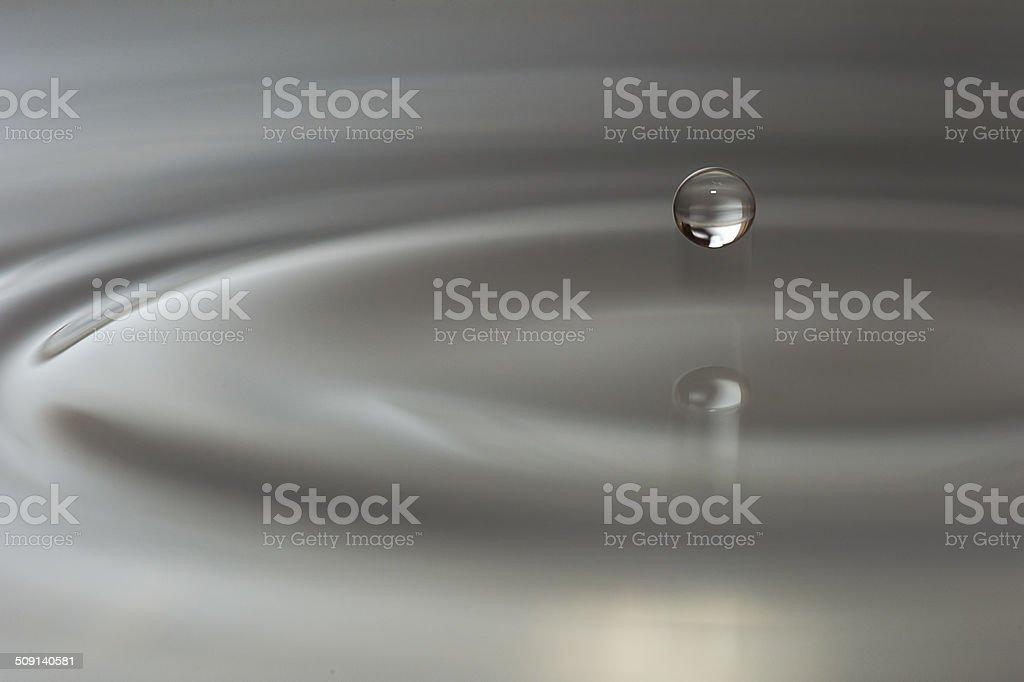 Water drop close up stock photo