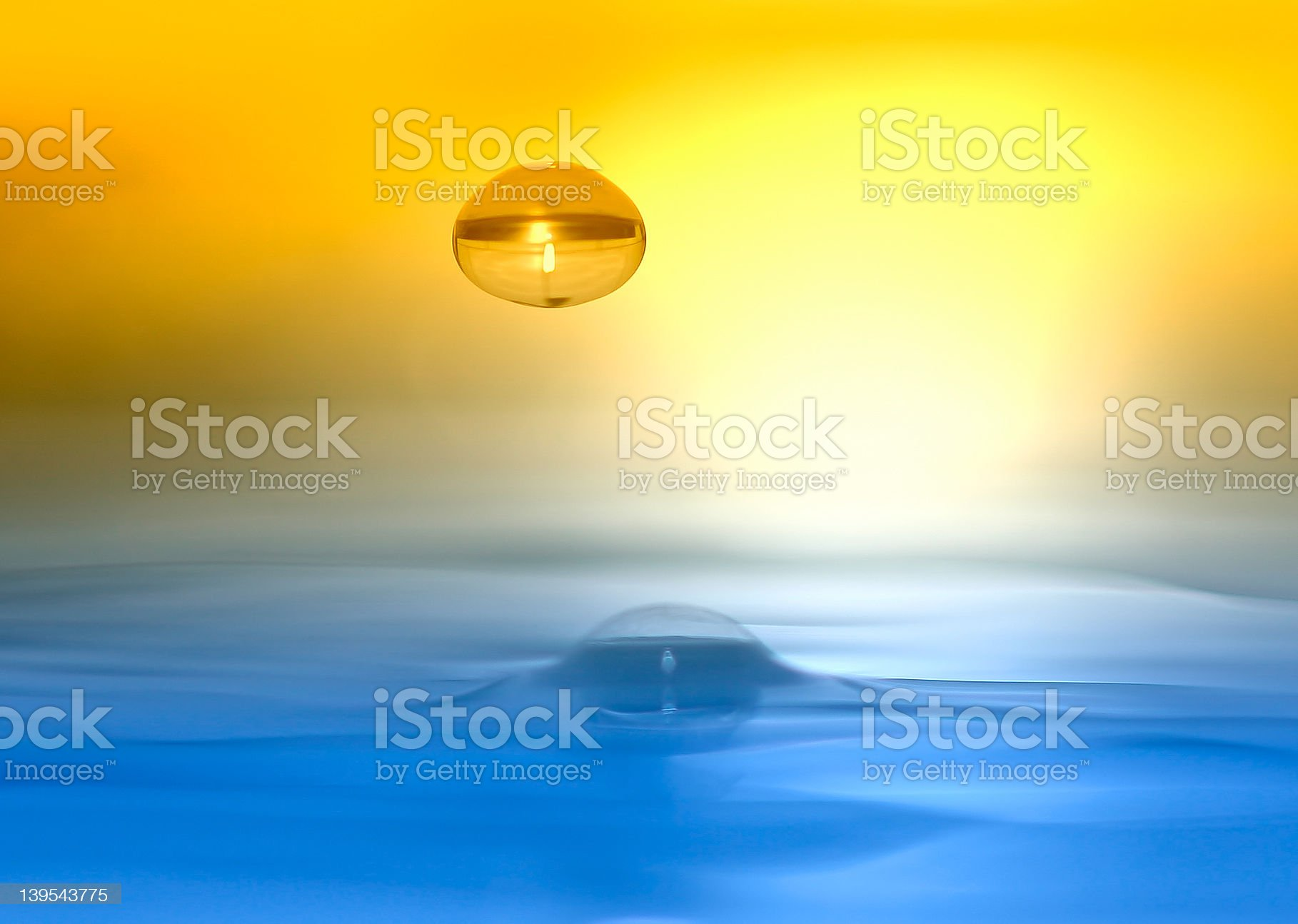 water drop colorful royalty-free stock photo