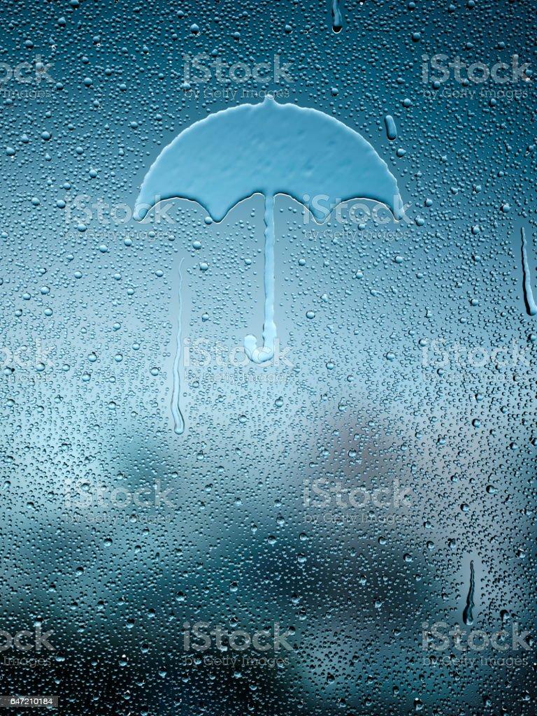 Water drop forming a umbrella stock photo