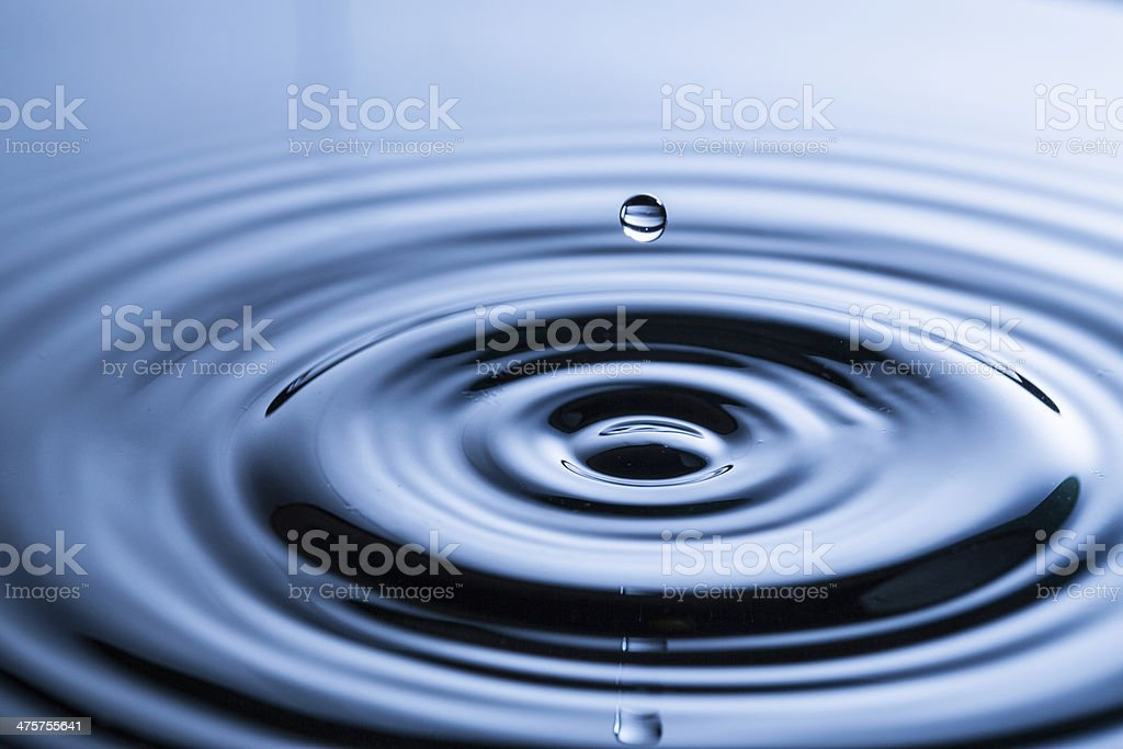 Water drop in sunlight stock photo