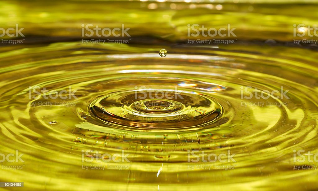 Water Drop in the air royalty-free stock photo