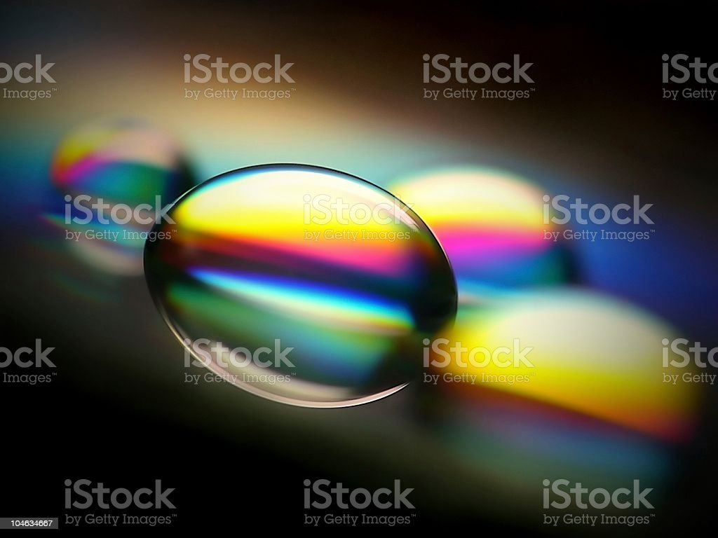 Water drop on CD royalty-free stock photo