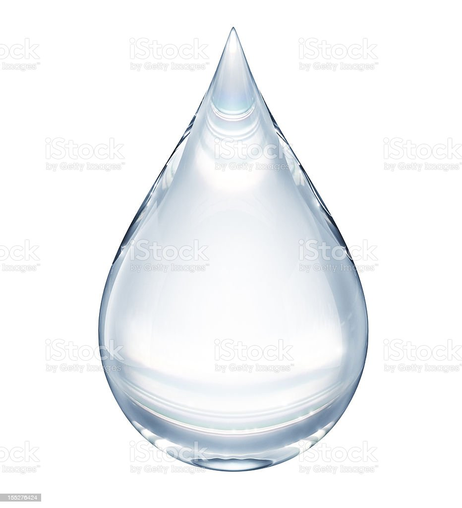 Water drop on white royalty-free stock photo