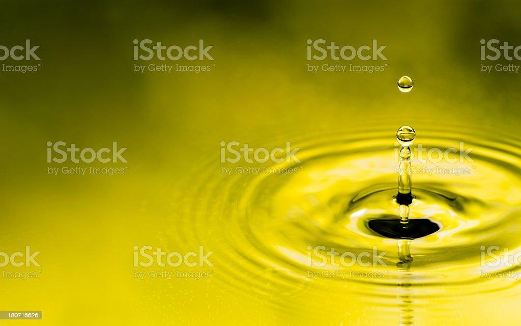 Water drop splashing and levitating royalty-free stock photo