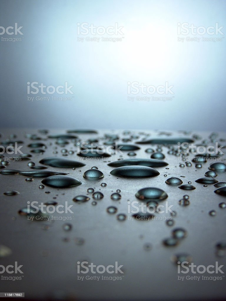 Water Droplet Horizon royalty-free stock photo