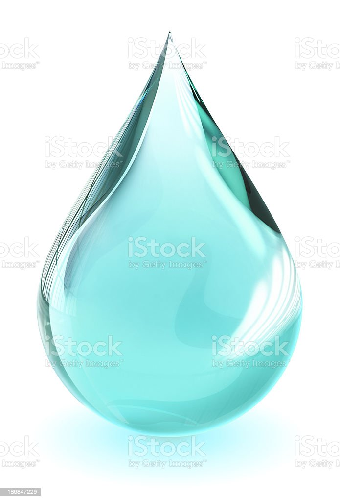 Water droplet (with clipping path) royalty-free stock photo