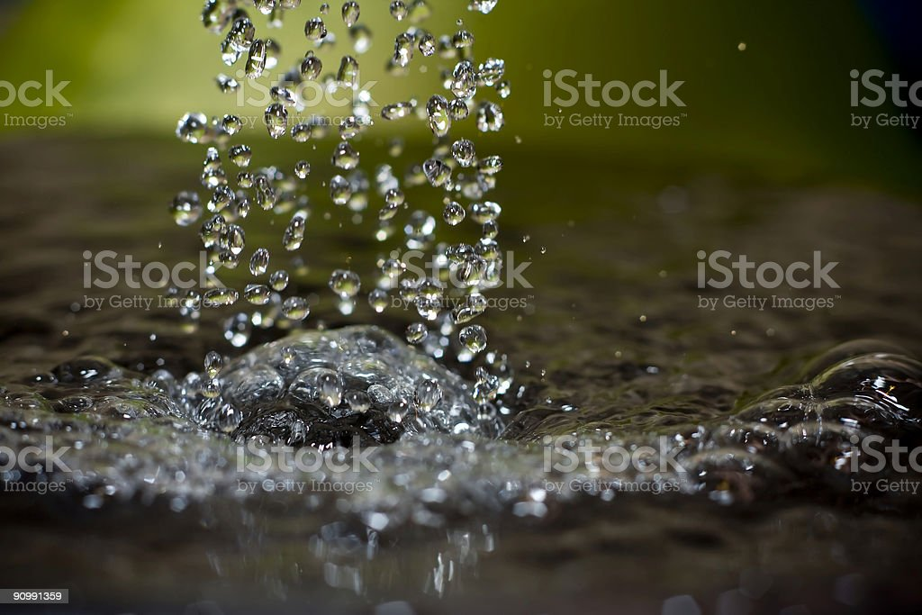 Water Droplet Shower royalty-free stock photo