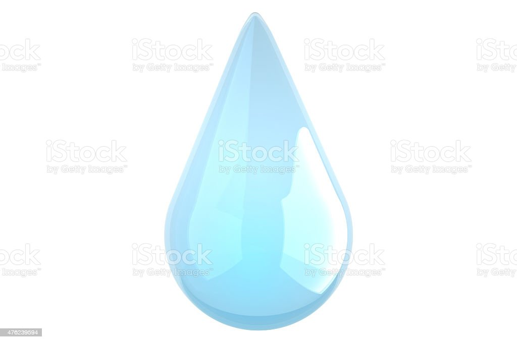 Water droplet - Water Dew - Rain - Isolated stock photo