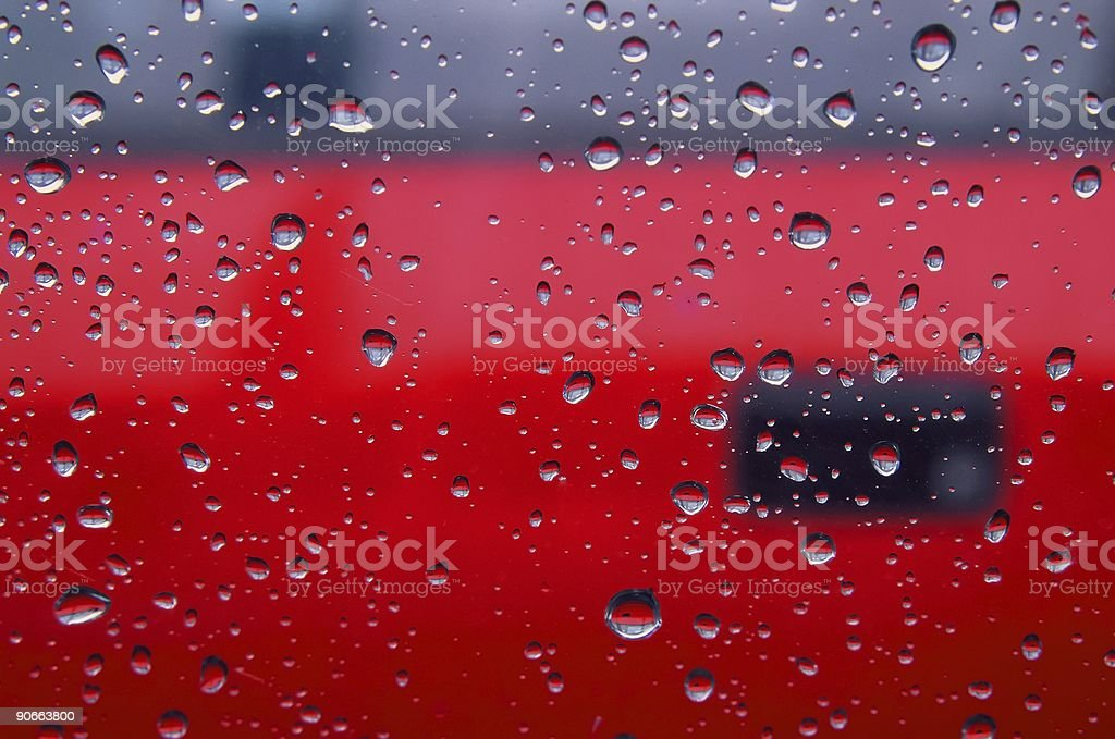 Water droplets on a car window royalty-free stock photo