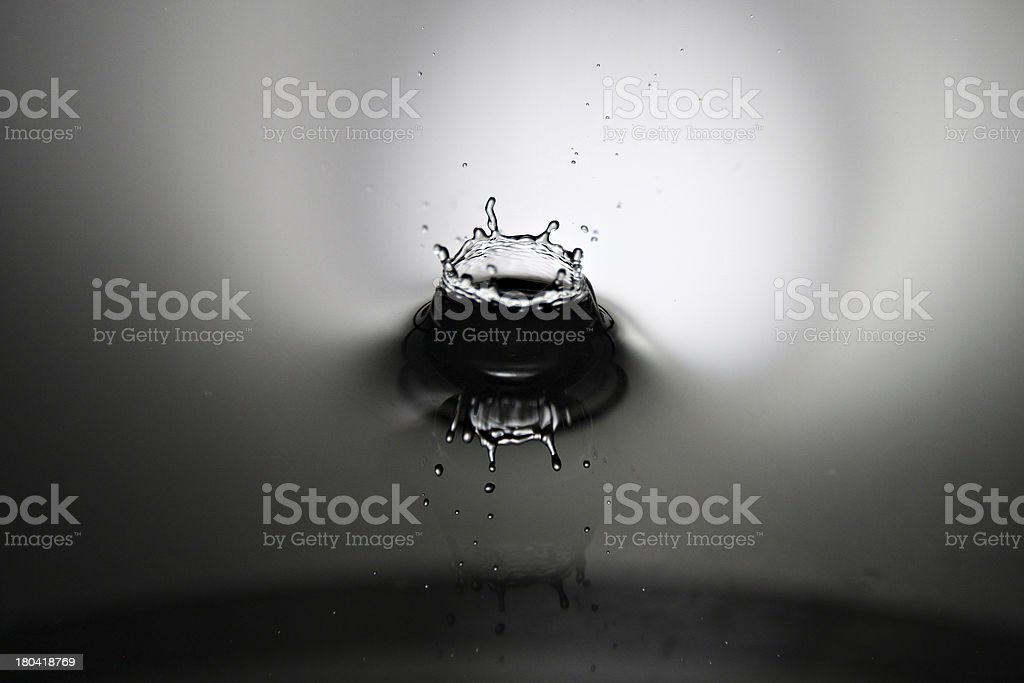 Water drops beautiful shape It's like a crown. royalty-free stock photo