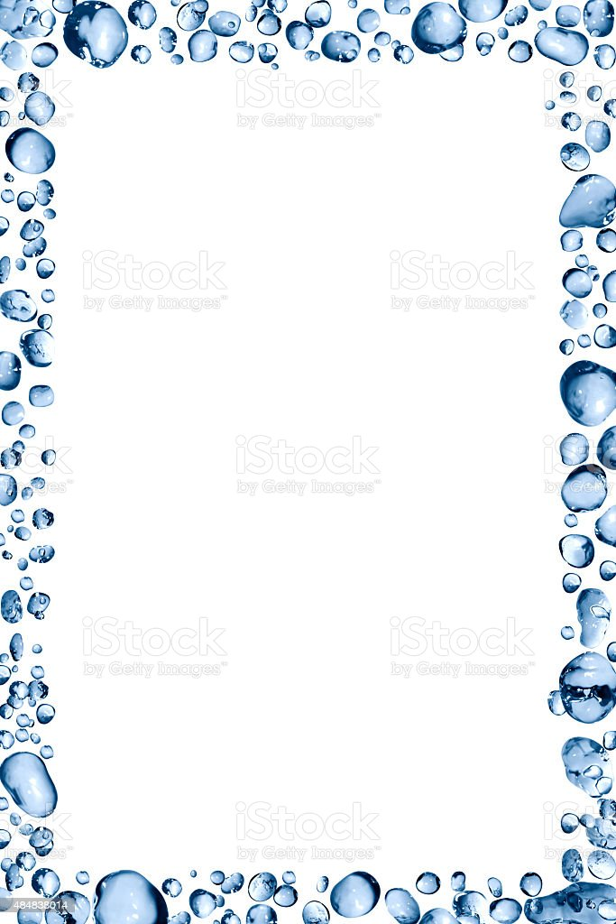 Water Drops Frame stock photo