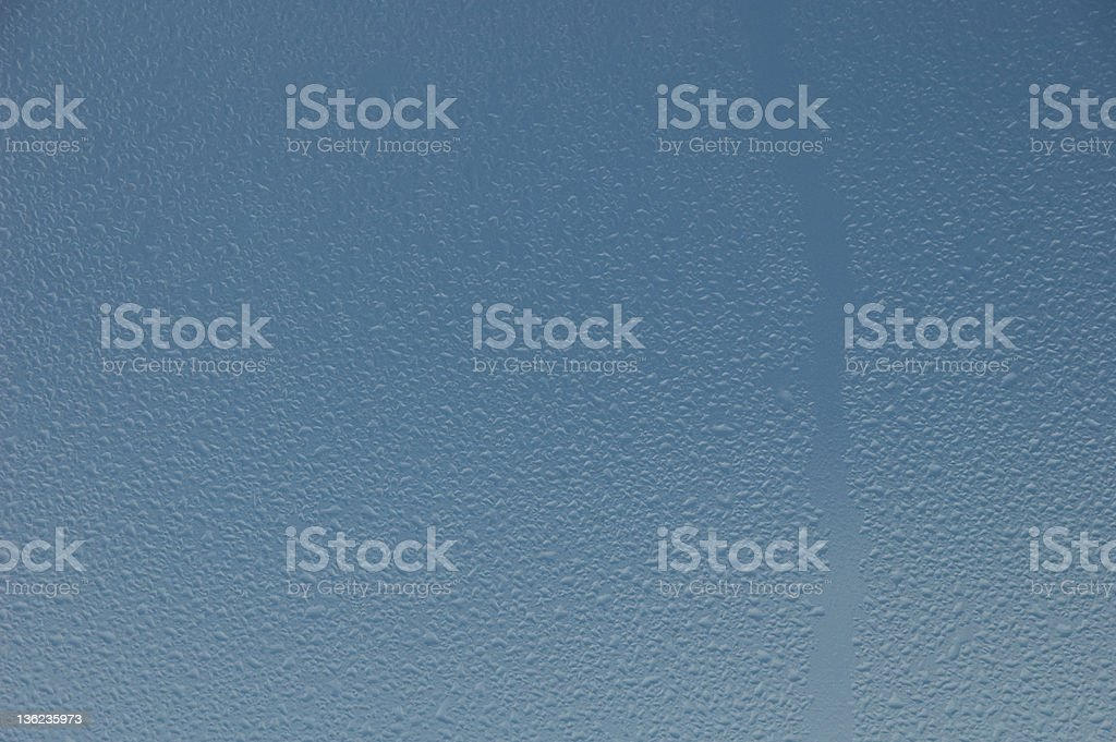 Water drops on a glass royalty-free stock photo