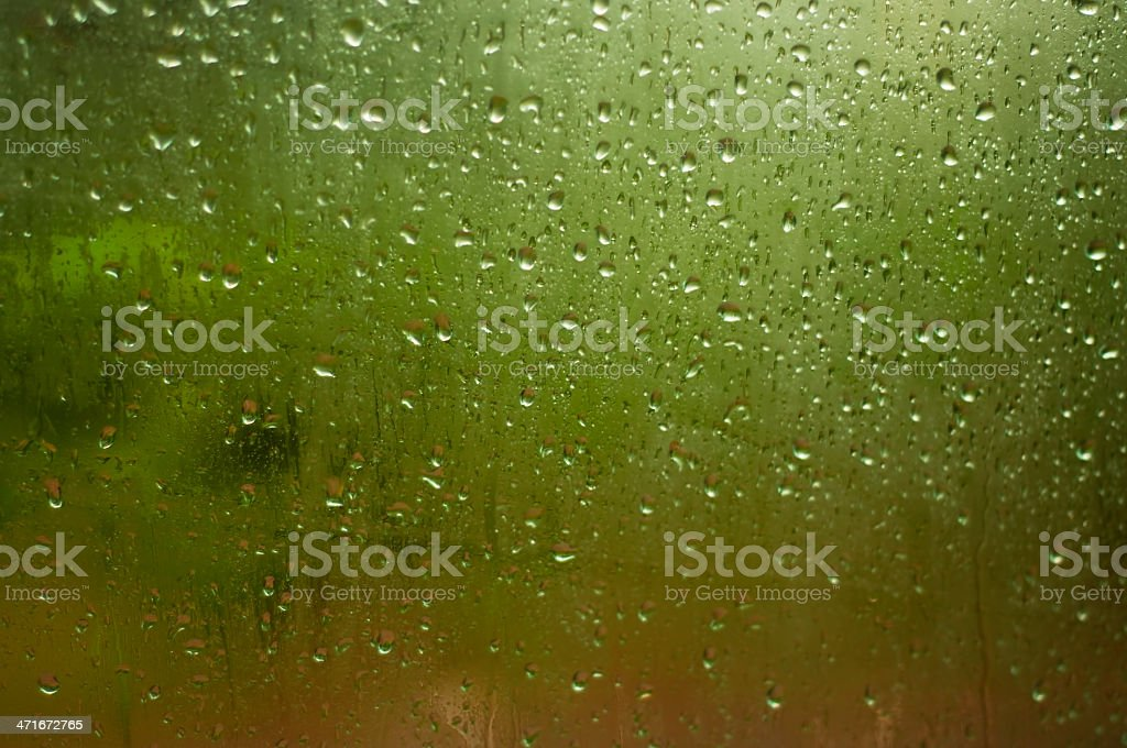 Water drops on a window royalty-free stock photo