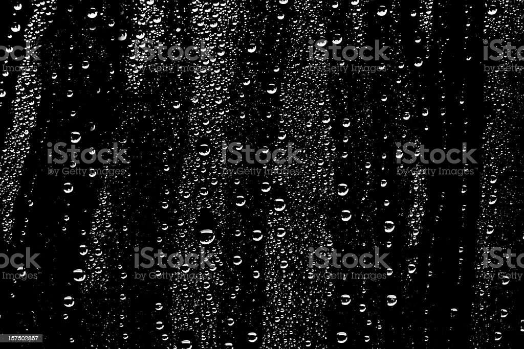 water drops on black background stock photo