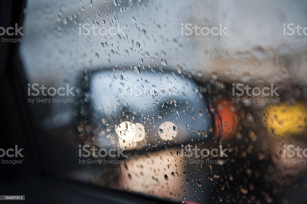 Water drops on Car Window (XLarge) stock photo