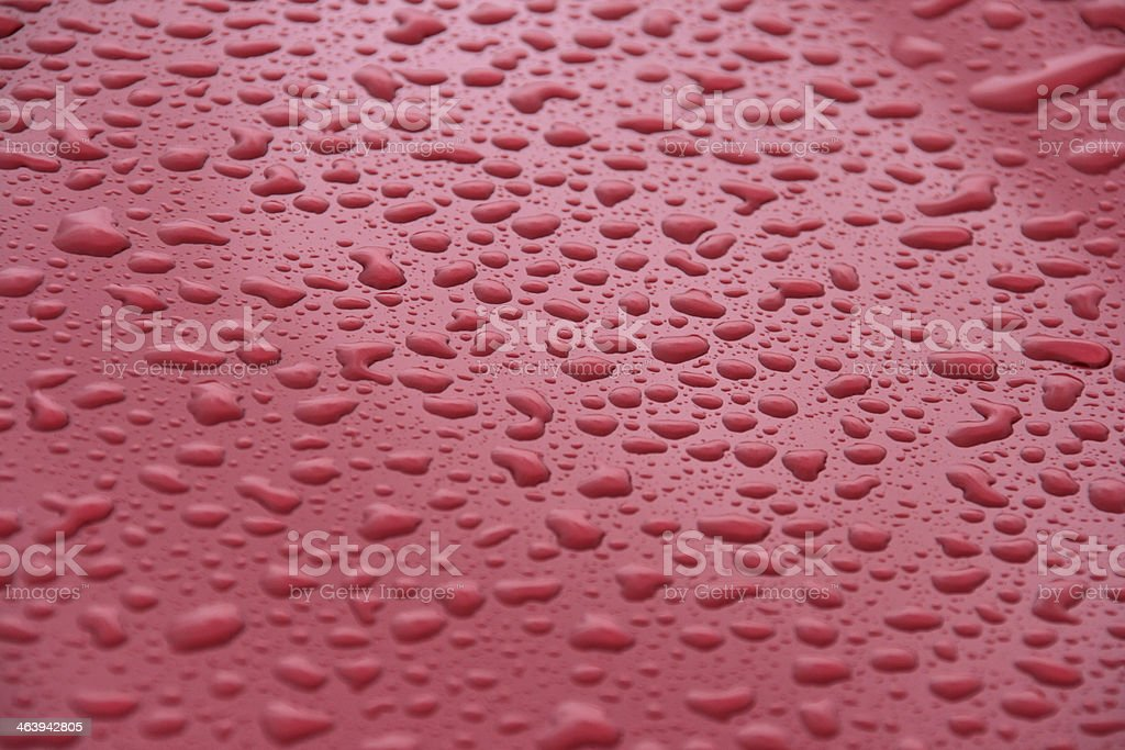water drops on coated surface stock photo